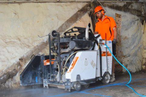 concrete cutting road sawing sydney