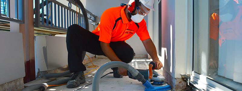 commercial grinding water proofing removal miranda sydney