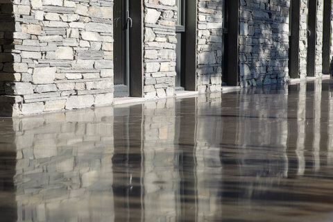 polished concrete back yard sydney