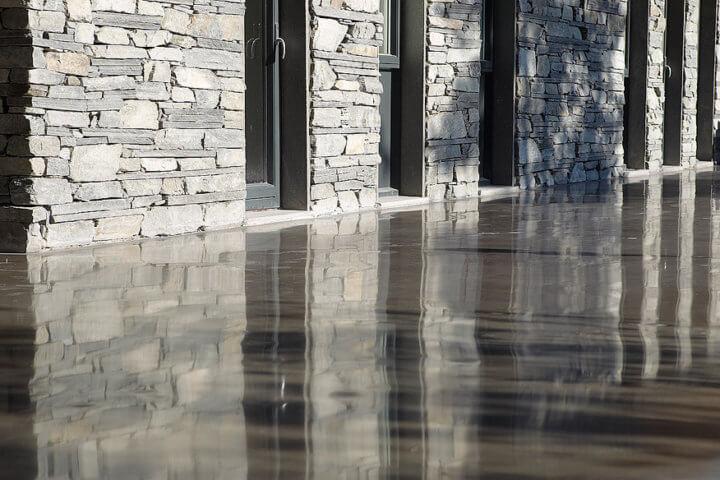 polished concrete back yard sydney