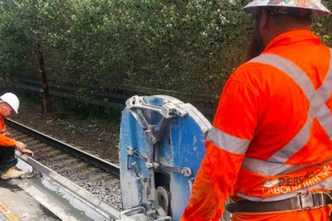 concrete cutting on rail network