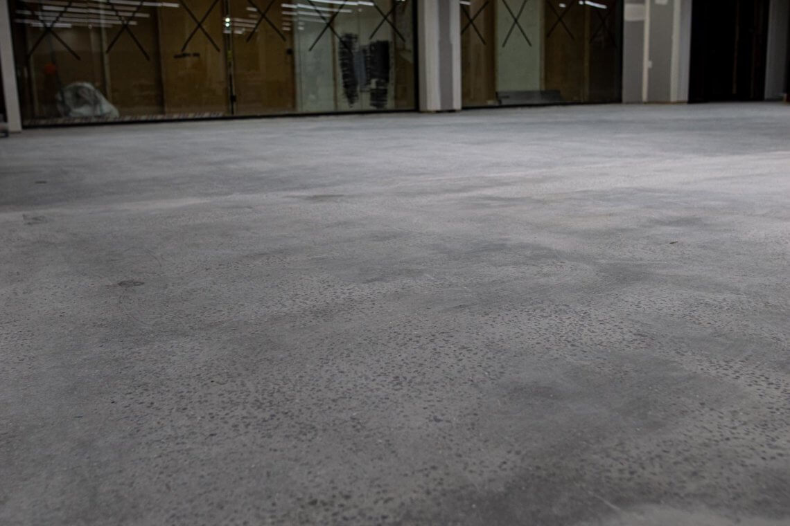 Concrete Polishing Fitness First Campbelltown Mall