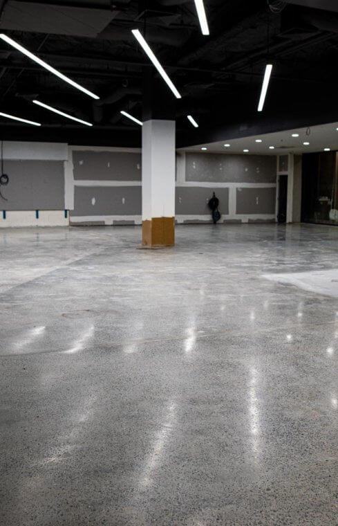 Concrete Polishing 250m2 - Campbelltown Mall