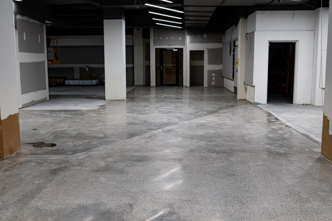 Concrete Polishing Fitness First at Campbelltown Mall
