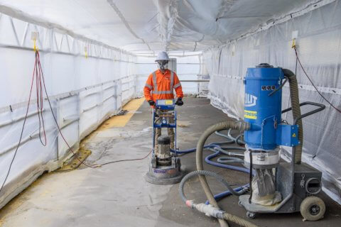 Floor Grinding & Epoxy Removal on Taronga Zoo Wharf