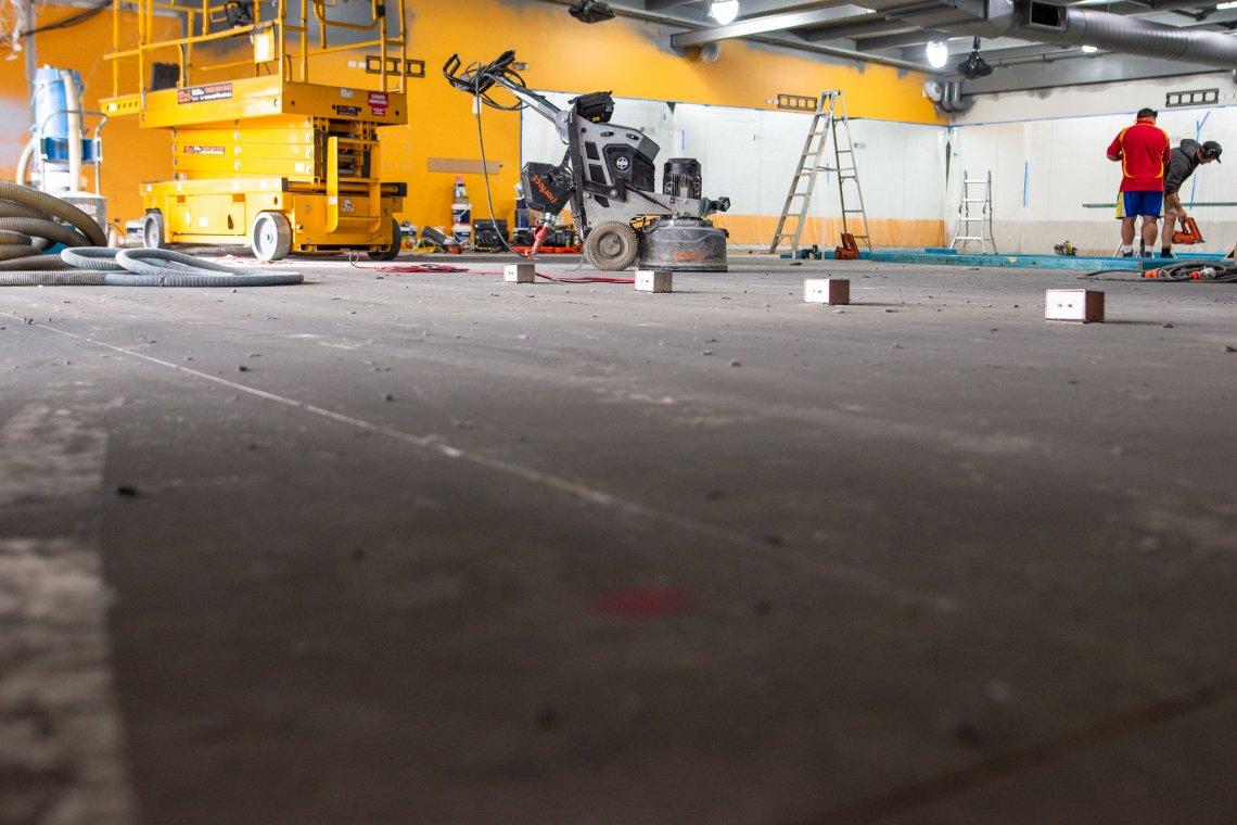 concrete grind and polish 130m2 in Edmondson Park