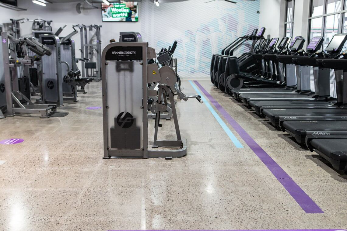 anytime fitness - concrete grind and polish