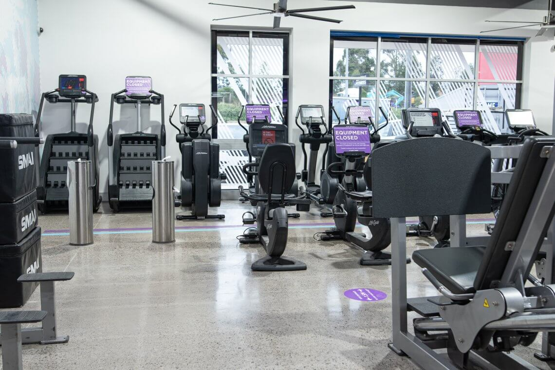 concrete grinding and polishing - anytime fitness