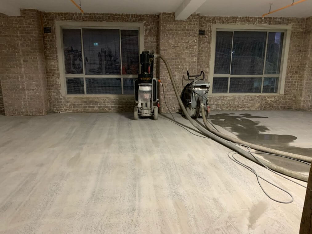 Concrete grind, seal and polish floors