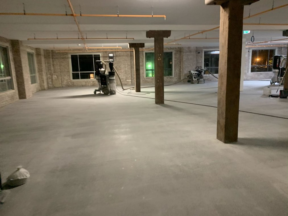 concrete works up to 50 grit