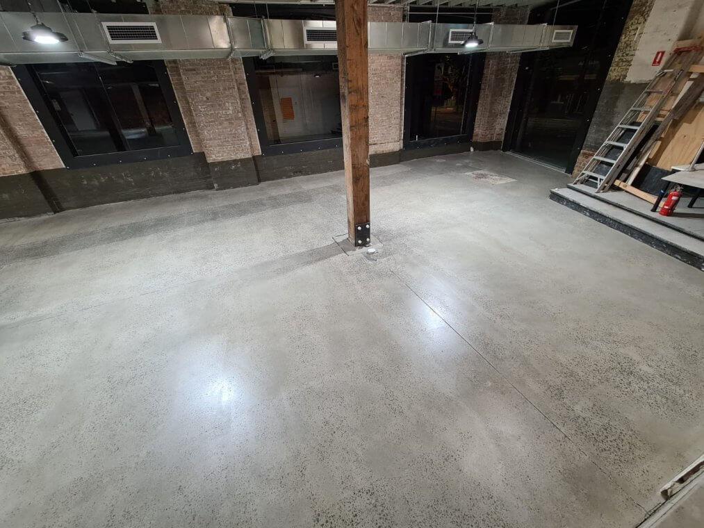refurbish of concrete slab