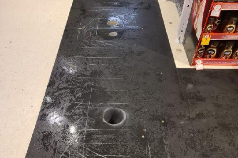 Scanning and core drilling in Coles stores