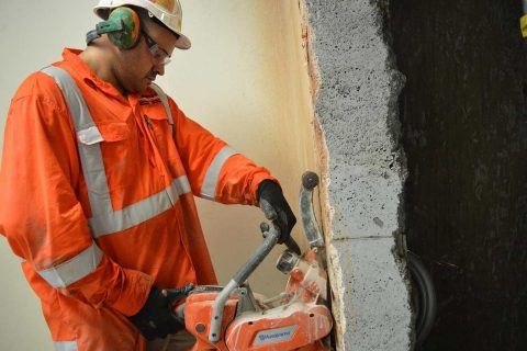 How to cut concrete sleepers - Perfect Concrete Care