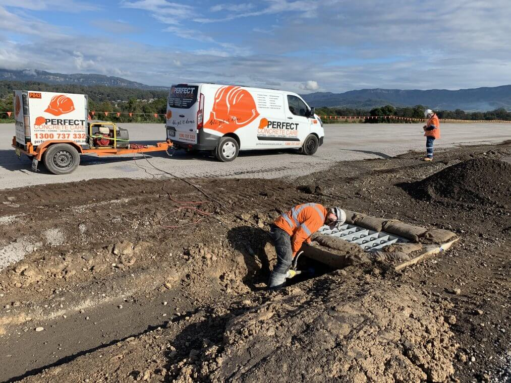 Road sawing and core drilling in Albion Park Rail Bypass